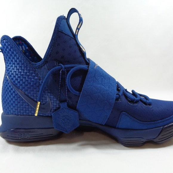 release date: ad974 bb64e NEW Nike LeBron 14 Agimat Blue and Gold Size 13m. M 5b393f6704e33d8b0958bbce
